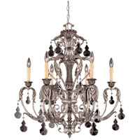 Savoy House Florita 6 Light Chandelier in Silver Lace 1-9720-6-176 photo thumbnail