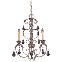 Savoy House Florita 3 Light Chandelier in Silver Lace 1-9724-3-176