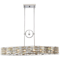 Lancaster 6 Light 41 inch Polished Chrome Island Light Ceiling Light