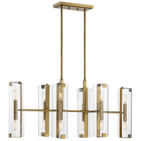 Winfield 12 Light 38 inch Warm Brass Trestle Ceiling Light