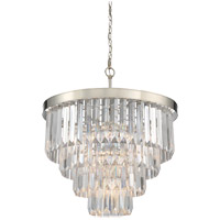 Tierney 6 Light 25 inch Polished Nickel Chandelier Ceiling Light