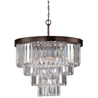Savoy House 1-9800-6-28 Tierney 6 Light 25 inch Oiled Burnished Bronze Chandelier Ceiling Light