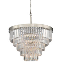 Tierney 9 Light 33 inch Polished Nickel Chandelier Ceiling Light