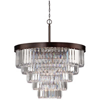 Tierney 9 Light 33 inch Burnished Bronze Chandelier Ceiling Light in Oiled Burnished Bronze