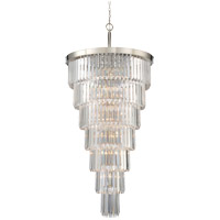 Tierney 19 Light 33 inch Polished Nickel Chandelier Ceiling Light