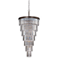 Tierney 19 Light 33 inch Oiled Burnished Bronze Chandelier Ceiling Light