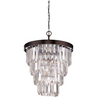 Savoy House Tierney 4 Light Chandelier in Burnished Bronze 1-9805-4-28
