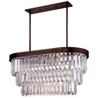 Savoy House Tierney 4 Light Island Light in Burnished Bronze 1-9807-4-28