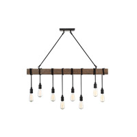 Savoy House 1-990-8-41 Burgess 8 Light 42 inch Durango Linear Chandelier Ceiling Light