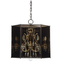 Endicott 6 Light 26 inch Shadow Smoke Chandelier Ceiling Light