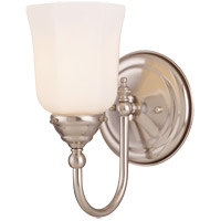 Brunswick 1 Light 6 inch Satin Nickel Bath Sconce Wall Light, Glass Sold Separately