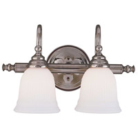 Savoy House 1062-2CH Brunswick 2 Light 17 inch Chrome Bath Bar Wall Light, Glass Sold Separately