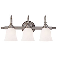 Brunswick 3 Light 24 inch Chrome Bath Bar Wall Light, Glass Sold Separately