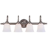Brunswick 4 Light 31 inch Chrome Bath Bar Wall Light, Glass Sold Separately