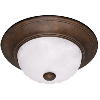 Signature 2 Light 11 inch Brownstone Flush Mount Ceiling Light in Ribbed Marble