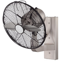 Skyy 13 inch Satin Nickel with Solid Wood/Silver Blades Wall Fan