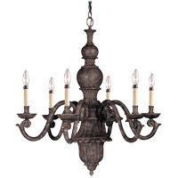 Savoy House Tuscan Iron 6 Light Chandelier in Rustic Bronze 127-6-72 photo thumbnail