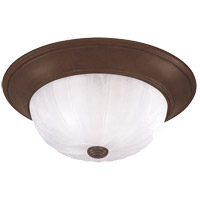 Signature 2 Light 13 inch Brownstone Flush Mount Ceiling Light in Ribbed Marble