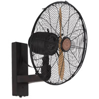Skyy 20 inch English Bronze Wall Fan in Beechwood, Large