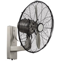 Skyy 16 inch Satin Nickel with Silver Blades Wall Fan