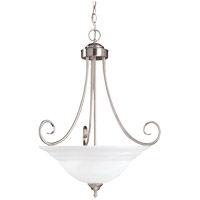 Savoy House Adirondack 3 Light Pendant in Satin Nickel 167-3-SN