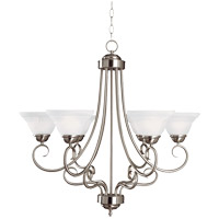 Savoy House Adirondack 6 Light Chandelier in Satin Nickel 169-6-SN