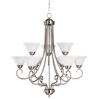 Adirondack 9 Light 30 inch Satin Nickel Chandelier Ceiling Light