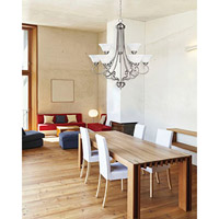 Savoy House Adirondack 9 Light Chandelier in Satin Nickel 169-9-SN alternative photo thumbnail