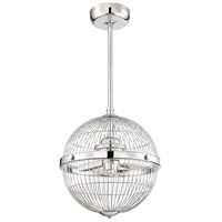 Arena 17 inch Chrome with Silver Blades Pendant Ceiling Fan