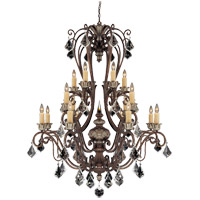 Elizabeth 16 Light 43 inch New Tortoise Shell with Silver Chandelier Ceiling Light