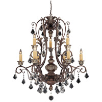 Elizabeth 9 Light 34 inch New Tortoise Shell with Silver Chandelier Ceiling Light