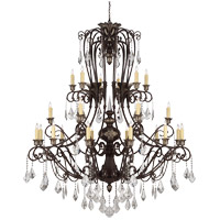 Savoy House Elizabeth 24 Light Chandelier in New Tortoise Shell with Silver 1P-1559-24-8