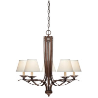 Savoy House Maremma 5 Light Chandelier in Espresso 1P-2170-5-129