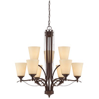 Maremma 9 Light 29 inch Espresso Chandelier Ceiling Light in Cream