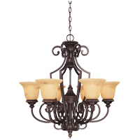 Savoy House 1P-50201-6-16 Knight 6 Light 29 inch Antique Copper Chandelier Ceiling Light photo thumbnail
