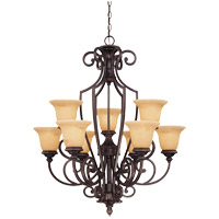 Savoy House Knight 9 Light Chandelier in Antique Copper 1P-50203-9-16