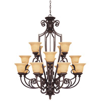 Knight 16 Light 40 inch Antique Copper Chandelier Ceiling Light