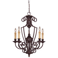 Knight 5 Light 23 inch Antique Copper Chandelier Ceiling Light