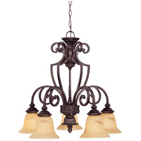 Savoy House 1P-50219-5-16 Knight 5 Light 27 inch Antique Copper Chandelier Ceiling Light photo thumbnail