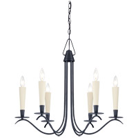 Savoy House Plymouth 6 Light Chandelier in Aged Iron 1P-5481-6-55