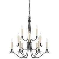 Savoy House Plymouth 12 Light Chandelier in Aged Iron 1P-5483-12-55