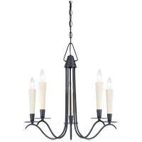 Savoy House Plymouth 5 Light Chandelier in Aged Iron 1P-5488-5-55