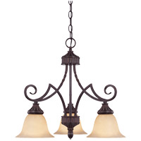 Savoy House Legend 3 Light Chandelier in Antique Copper 1P-5589-3-16