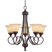 Savoy House Legend 5 Light Chandelier in Antique Copper 1P-5590-5-16