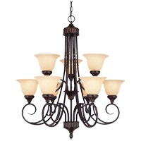 Legend 9 Light 31 inch Antique Copper Chandelier Ceiling Light