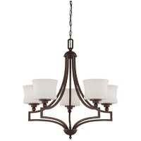 Terrell 5 Light 26 inch English Bronze Chandelier Ceiling Light