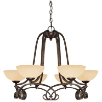 Savoy House San Marino 6 Light Chandelier in Tortuga 1P-780-6-188