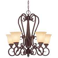 Bellingham 5 Light 25 inch Bark and Gold Chandelier Ceiling Light