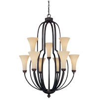 Savoy House Marcelina 9 Light Chandelier in English Bronze 1P-961-9-13 photo thumbnail
