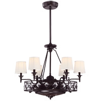Savoy House Cambria 6 Light Fandelier in English Bronze 26-332-FD-13
